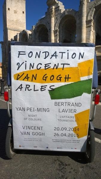 La Fondation Vincent Van Gogh à Arles avec Yan Pei-Ming et Bertrand Lavier.