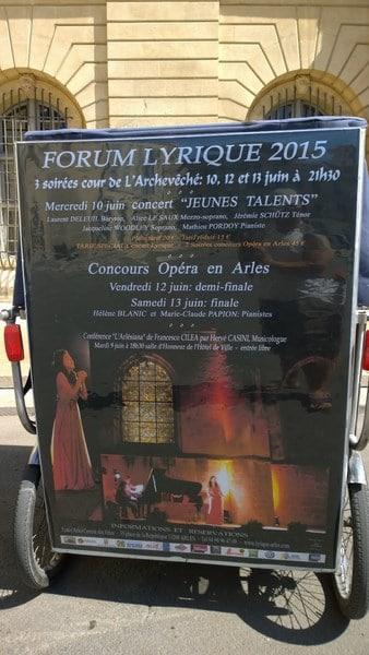 Forum Lyrique international d'Arles du 10 au 13 juin 2015